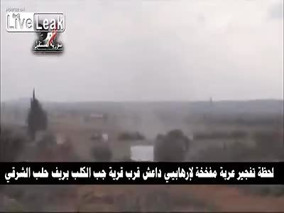 Daesh Car bomb Destroyed By Syrian Army