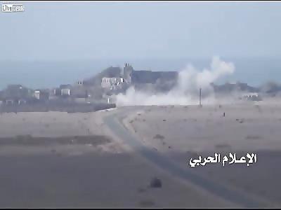 Houthis targeting saudi military vehicle