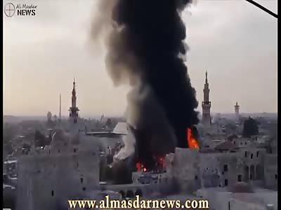 Huge flares devour ancient souk in old Damascus city