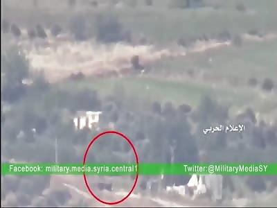 Syrian Army destroys Jihadists tanks with ATGMs in Khan Touman, South Aleppo