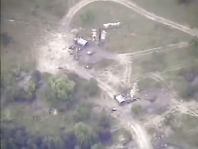 Drone Observes Ukrainian Artillery Being Destroyed By Artillery