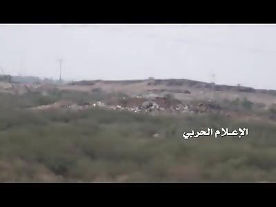 Saudi missile targeting mechanism west Elmejrob village in Jizan prompt