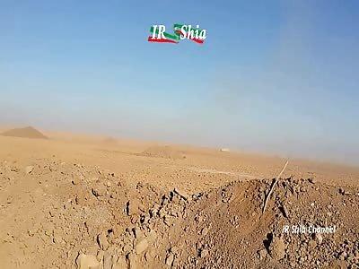 Iraqi PMU - Destroys ISIS Terrorists Car Bomb in West Of