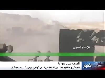 SAA Starts Offensive against Fatah Al Sham in West Damascus