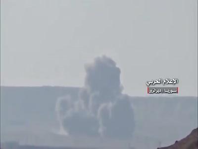 Syrian airstrikes target IS jihadists positions in & around Thardah mountain - Deir Ez-zour city