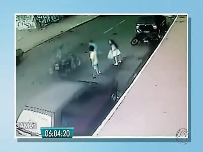 BOY RUN OVER BY SPEEDING BIKE
