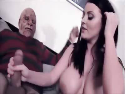 Happy Halloween… Big Titted Bimbo Is Enjoying Herself…
