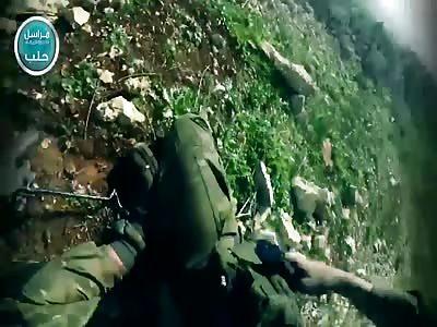 Al-Nusra fighter films own death near Aleppo