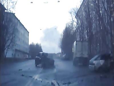 Brutal Deadly Head-On Crash Between Volvo and Vaz