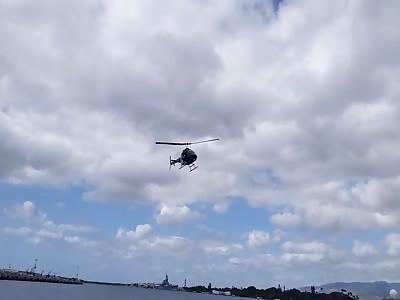 Helicopter Crash Near Arizona Memorial, Pearl Harbor
