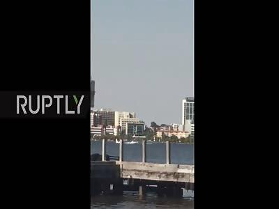 Plane Crashing into Perth's Swan River Killing all the Passengers