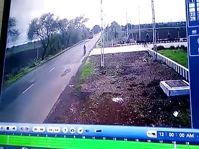 Bike vs Car Brutal Accident
