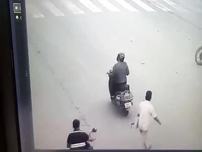 Live Suicide Guy Dives Under Trucks Wheel