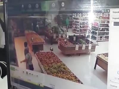 Police Officer Shot and Killed by Hitmen Inside Supermarket