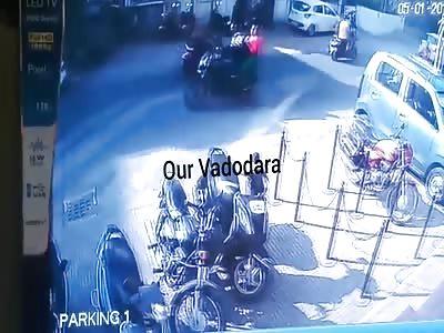 BMW vs Bike Accident