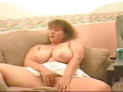 Busty mature on webcam