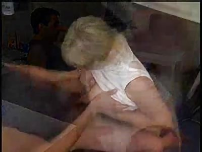 Blonde mature women sucks and fuck young man