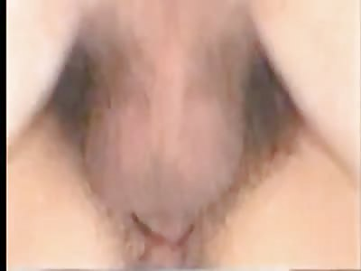 Hairy white snatch