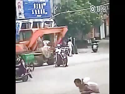 Rider gets killed by excavator