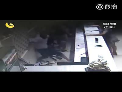 two man brutally beat women