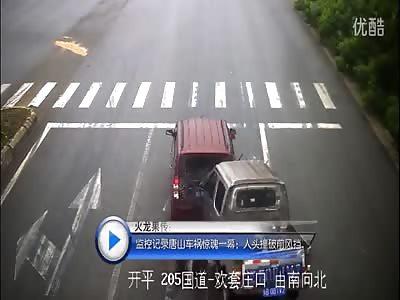 Passenger survives horrific car crash after head gets trapped in windscreen