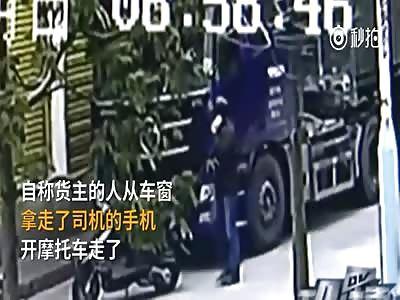 Kung Fu Trucker gets his Revenge on Phone thief