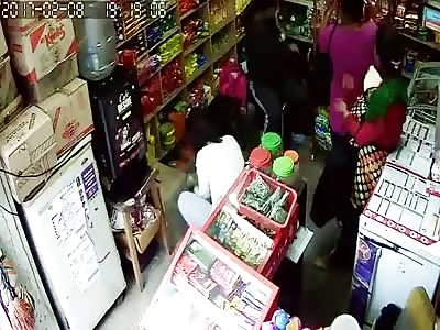 Three women caught on CCTV stealing
