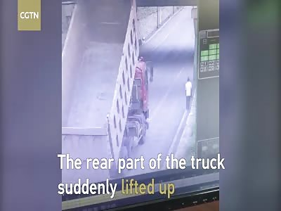 Truck smashes into railway bridge, splits it in half