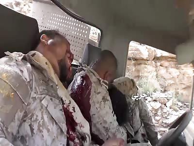 shoking video of three saudi soldier killed in yemen