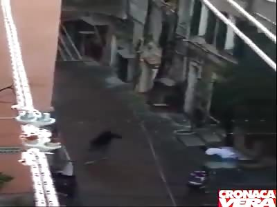 Muslim Migrants Launch into a Riot in San Remo, Italy, Attack Italians, Smash Windows