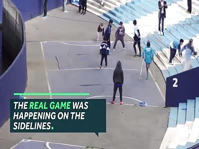 One-legged boy on crutches scores wonder goal