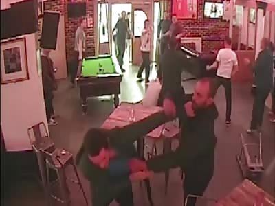 pub brawl caught on CCTV