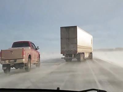 Semi Truck on Icy Roads