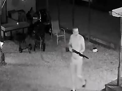 Gunman kills neighbor and ambushes police in hour-long shootout