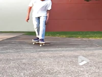 Back breaking skate fail
