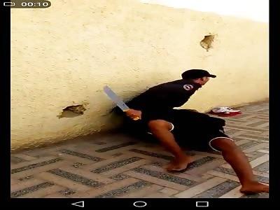 police arrest boy with very big knife