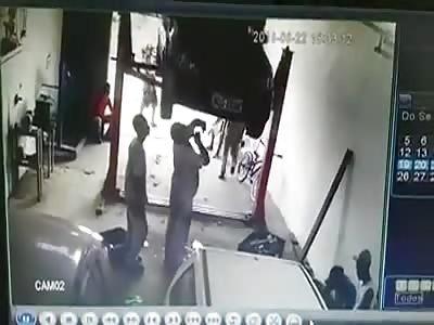 execution inside a mechanical garage