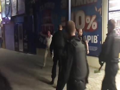 annoying mall customer gets his ass beaten