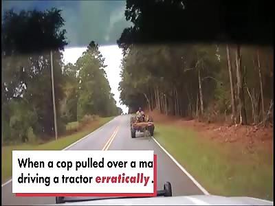Taser sends tractor thief flying