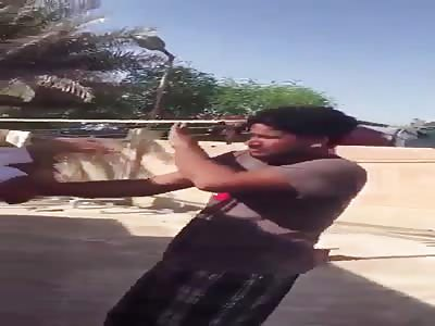 Qatari asshole beat india man for drinking vin