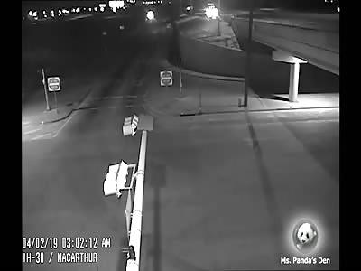 Milk Tanker Semi Truck Driver Falls Asleep And Goes Off Bridge
