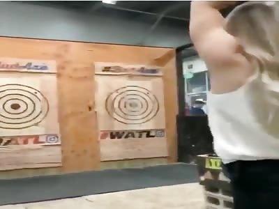 close call with axe