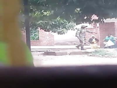Zimbabwean army beating civilians woman