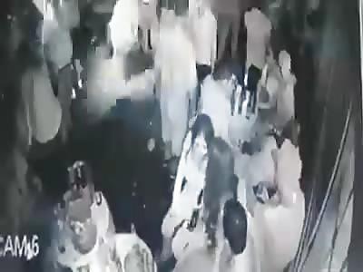 CCTV Captures Shooting Massacre in  Bar.