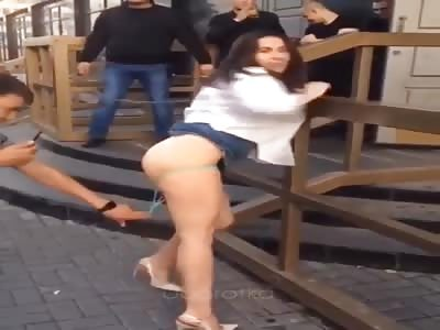 Dumb Drunk Bitch Fights Pervert Asshole