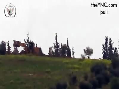 Rebels northwest of Hama.