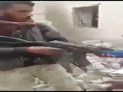 Brutal execution to pricionero in Raqq