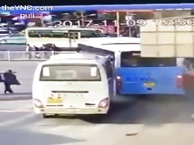 driver passes over pedestrians