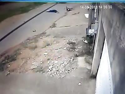 CCTV. MOTORCYCLIST. LOSE LIFE INSTANTLY