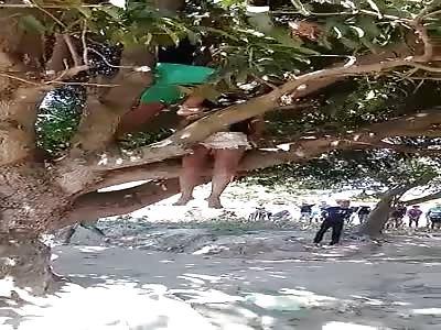 fuck ... woman hangs herself in a tree